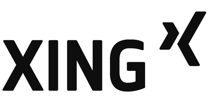 XING-Logo in schwarz-weiß
