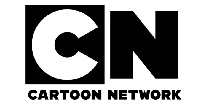Cartoon Network Logo in schwarz-weiß