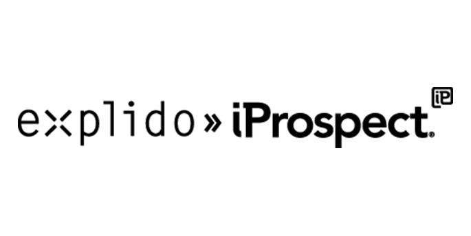 explido»iProspect Logo in schwarz-weiß