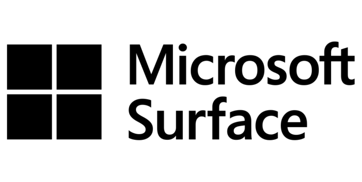Microsoft Surface Logo in schwarz-weiß
