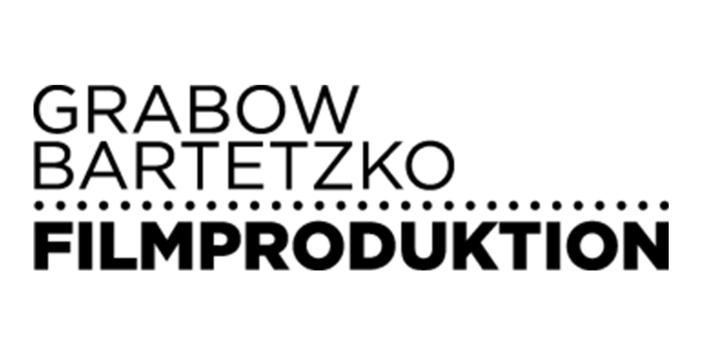 Grabow Bartetzko Filmproduktion Logo in schwarz-weiß