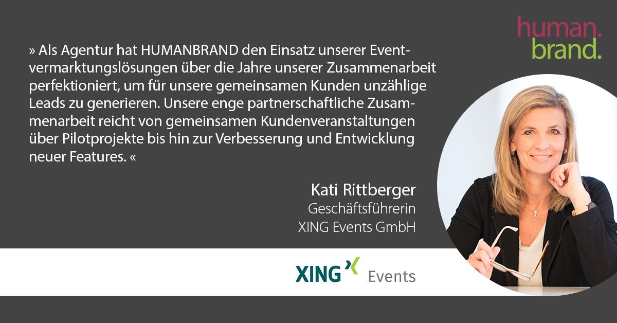 Ein Zitat von Kati Rittberger von der XING Events GmbH.
