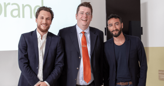 LinkedIn Client Solutions Manager David Risa, HUMANBRAND-CEO Christian Haberl und LinkedIn International Account Director Human Jorjani in der HUMANBRAND Media Academy