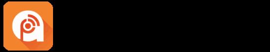 Neben dem Schriftzug Podcast Addict ist das dazugehörige Icon.