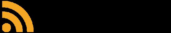 Neben dem Schriftzug RSS-Feed ist das dazugehörige Icon.