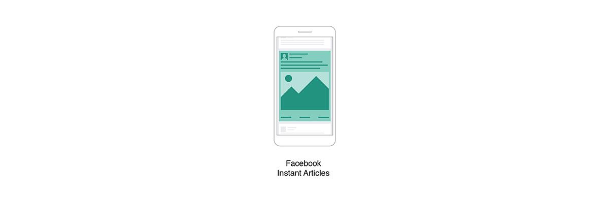 Eine Grafik zeigt das Facebook-Werbeformat Instant Articles.