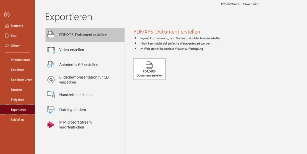Dies ist ein Screenshot von der Microsoft Applikation Powerpoint