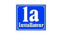 1a Installateur Logo blau und weiß